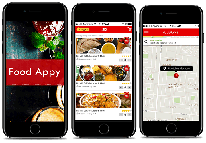 Food app development services india apps company