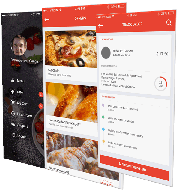 Restaurant Food Ordering Mobile Apps