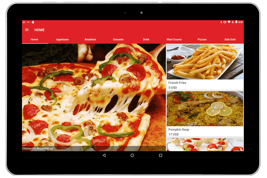 Digital Restaurant Menu Restaurant Menu On Tablet